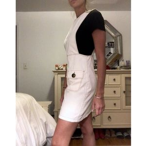 ZARA - White Overall Dress with Bottons - XS